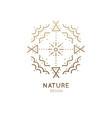 logo sacred abstract nature vector image