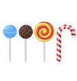 lollipops set of different candies vector image vector image