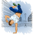 Man Breakdancing on the Street vector image vector image