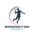mens badminton sports logo vector image