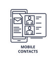 mobile contacts line icon concept mobile contacts vector image vector image