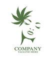 modern woman cannabis logo vector image vector image