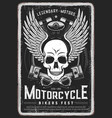 motorcycle bikers festival grungy poster vector image vector image