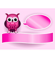 Owl making baby girl announcement vector image vector image