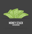 piles money stack cash dollar on white vector image vector image