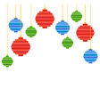 pixel art christmas tree ball composition vector image vector image
