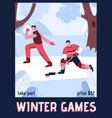 poster winter games concept vector image vector image