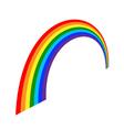 Rainbow icon cartoon 3 vector image