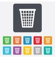 Recycle bin sign icon Bin symbol vector image vector image