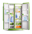 refrigerator organization realistic object vector image vector image