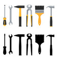 repair and construction tools icons set vector image