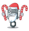 santa with candy miniature piston in cartoon vector image vector image