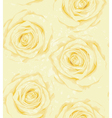 seamless background with yellow roses sprays drops vector image