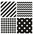 seamless black and white pattern or background set vector image vector image