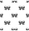 seamless bow pattern gift symbol from love icon vector image vector image