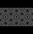seamless islamic pattern white mosaic line art vector image vector image