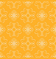 seamless orange abstract geometric pattern with vector image vector image