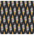 Seamless pattern with cute doodle cat ice cream vector image vector image