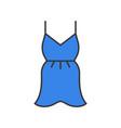 short cocktail dress or summer dress filled color vector image vector image