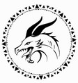 simple drawing a dragons head made only vector image