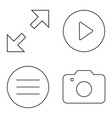 simple set thin line icons 05 vector image vector image