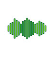 sound waves icon lemon scribble icon on vector image vector image
