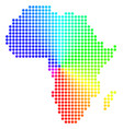 spectral sphere dot africa map vector image