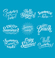 summer lettering for summertime season design vector image