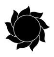 sun silhouette symbol icon design vector image vector image