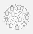 t-shirt circular symbol - line tshirt sign vector image vector image