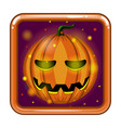the application icon with halloween pumpkin vector image vector image