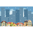 the city in christmas urban landscape vector image vector image