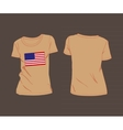 USA flag t-shirt vector image