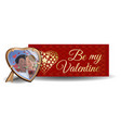 valentines day banner design vector image