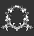 vintage floral laurel vector image vector image