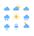 Weather forecast color web icons collection vector image