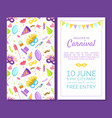 welcome to carnival masquerade party banner vector image