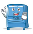 with phone mailbox character cartoon style vector image vector image