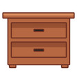 wooden drawer funiture vector image vector image