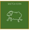 of animal symbol on sheep vector image