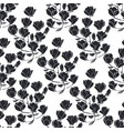 floral seamless texture with magnolia vector image