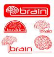 logotypes of brain vector image