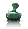 Stone mortar with reflection vector image