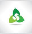floral logo beauty salon sign health care design vector image