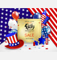 4 th july sale posterusa independence day vector image vector image