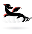 abstract black dragon vector image