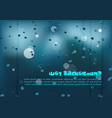 abstract colorful water drops background in blue vector image