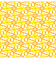 Abstract geometric seamless pattern in yellow and vector image vector image