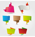 abstract origami labels vector image vector image