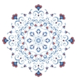 Abstract ornament mandala with styled flowers vector image